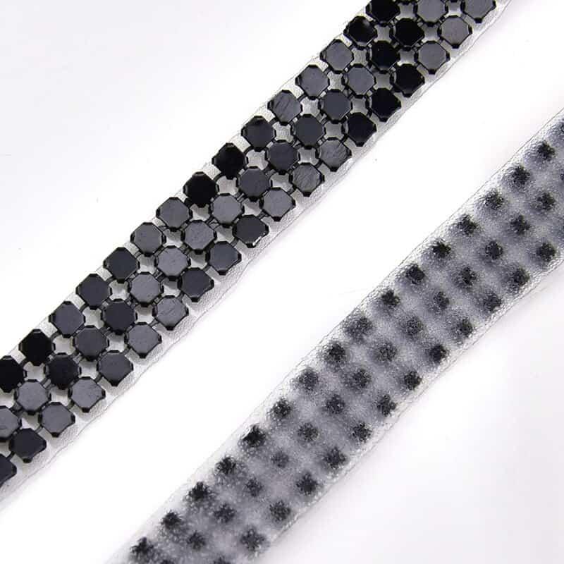 garniture de strass en maille d'aluminium, 3mm, 3 rangées, garniture de couture en cristal, applique de mariée pour vêtements, accessoires de repas
