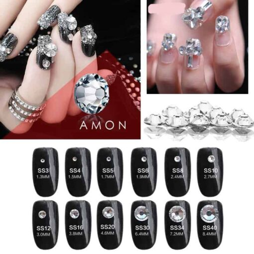 strass blancs pour nail art ongles