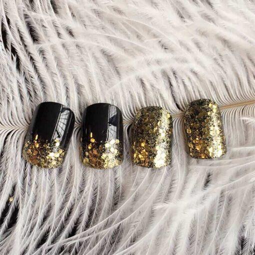 faux ongles paillettes brillantes ongles