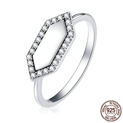 bague argent géométrique bijoux bijoux strass femme