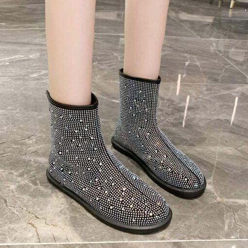 bottines à strass chaussures chaussures strass et paillettes femme