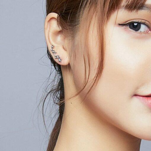 boucles d'oreilles athéna argent 925 zirconium bijoux bijoux strass femme boucles d'oreilles strass et paillettes