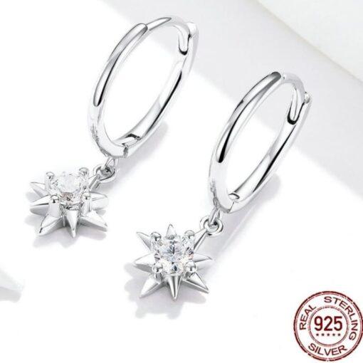 boucles d'oreilles mélina argent 925 zirconium bijoux bijoux strass femme boucles d'oreilles strass et paillettes