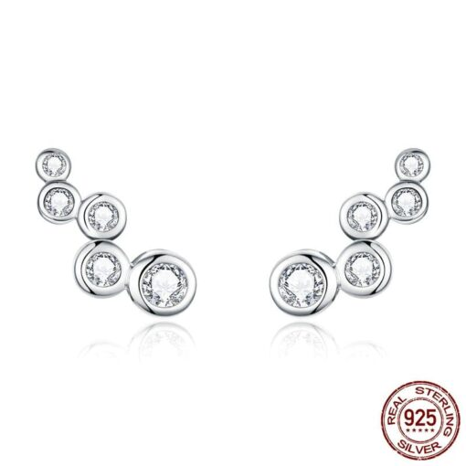 bijoux d'oreilles ariane argent blanc oxyde de zirconium bijoux bijoux strass femme boucles d'oreilles strass et paillettes