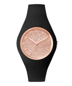 montre ice glitter black rose gold moyenne montres femme