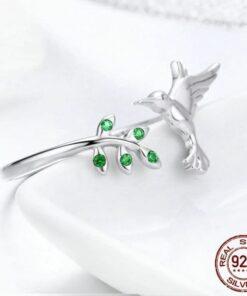 bague femme colibri en argent 925 bagues strass bijoux bijoux strass femme