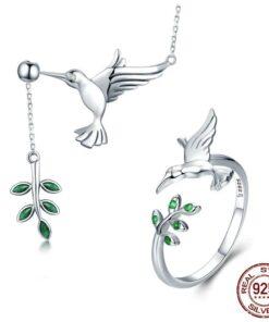 ensemble bijoux femme colibri argent 925 bijoux bijoux strass femme ensemble tenue femme