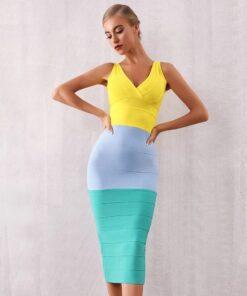 robe colorée moulante robes de cocktail strass & paillettes vêtements