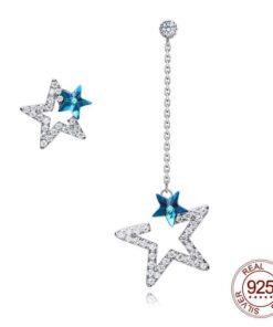 boucles d'oreilles strass diva en argent 925 bijoux bijoux strass femme boucles d'oreilles strass et paillettes