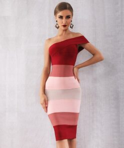 robe de soirée moulante et colorée robes robes de soirée strass & paillettes vêtements