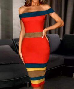 robe colorée chic robes robes de cocktail strass & paillettes vêtements