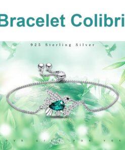 bracelet femme colibri en argent 925 bijoux bijoux strass femme bracelets