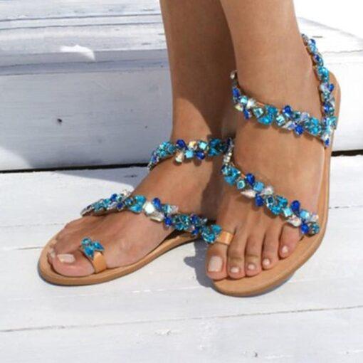tongs femmes avec des perles chaussures chaussures strass et paillettes femme