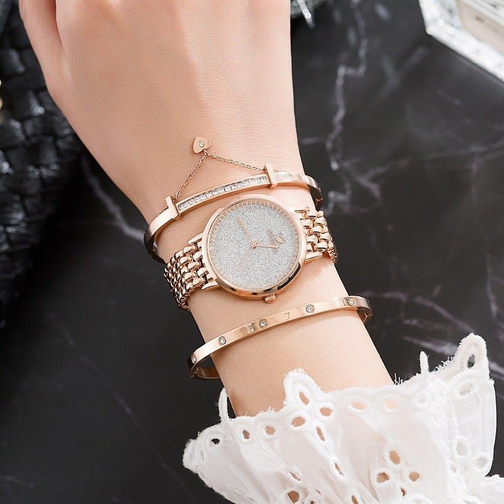 ensemble montre femme et bracelets
