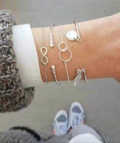 bracelets infinity silver strass and co bijoux bracelets