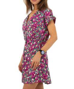 robe femme courte motif fleuri violet robes robes fleuries vêtements