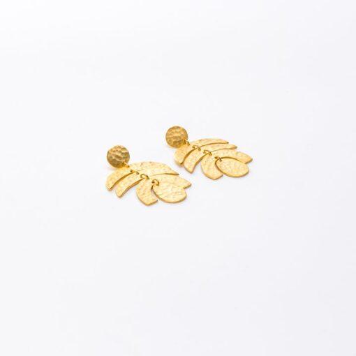 boucles d'oreilles fantaisie eulalie dorée
