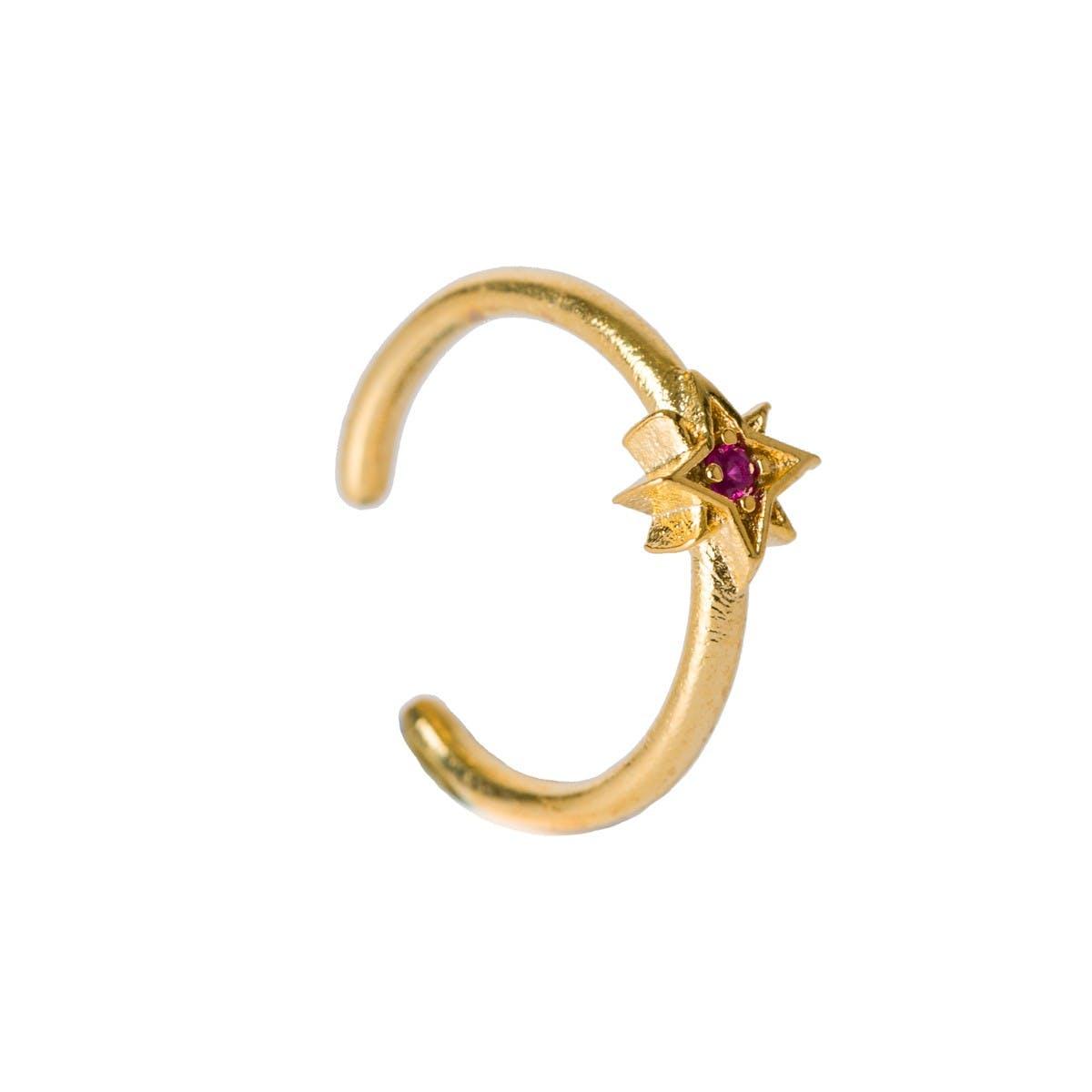 bague alliance ruby star gold