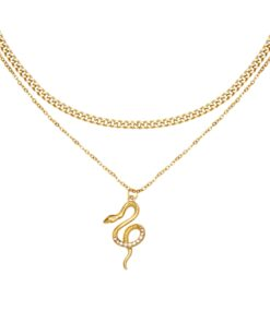 Collier-serpent-or