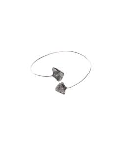 bracelet feuille en argent lucia