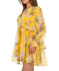 robe-femme-legere-volante-motif-jaune