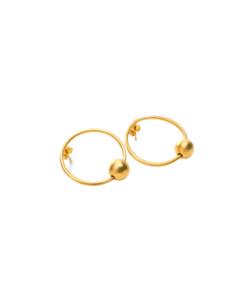 boucles d'oreilles mini créoles dorées haamiah