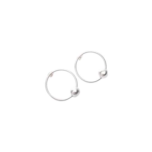 boucles d'oreilles mini créoles argent haamiah
