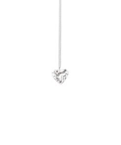 collier coeur argenté amélia