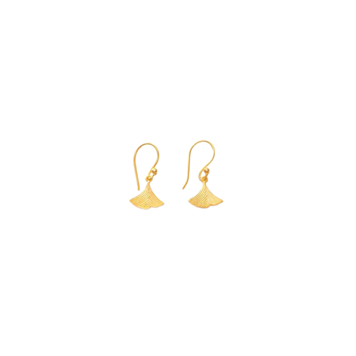 boucles d'oreilles en or mini-feuilles sophia