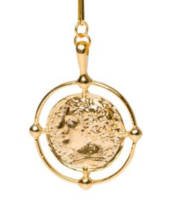 chaîne avec pendentif en or pièce grecque