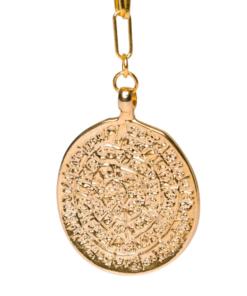chaîne avec pendentif en or pièce rose