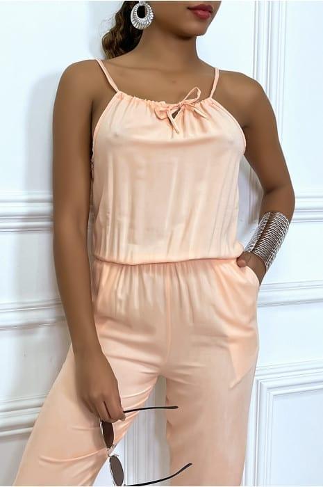 combinaison-rose-en-coton-avec-poche-et-bretelle-ajustable