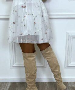 jupe-tutu-blanche-elastique-en-tulle