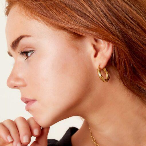 boucles d'oreilles créoles en acier inoxydable