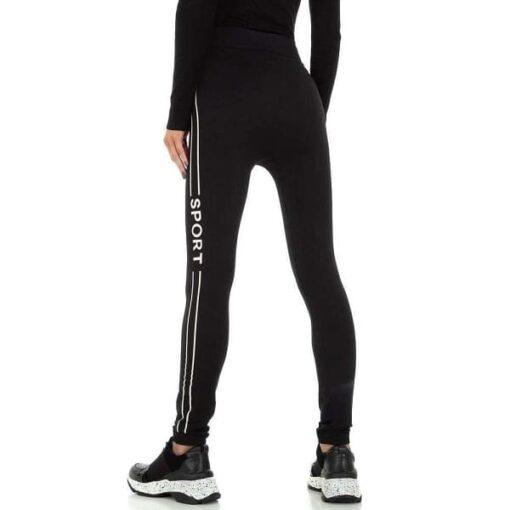 leggings-femme-bande-blanche-sport-taille-haute-noir-utile