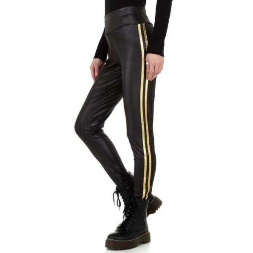 leggings-femme-effet-cuir-taille-haute-bande-jaune-noir-bon-mlarche