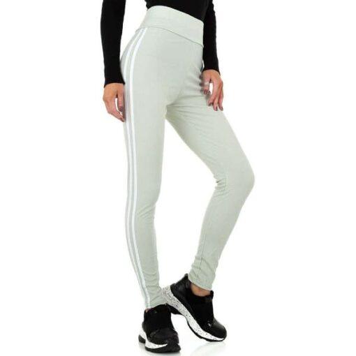leggings-femme-sport-rayures-contrastees-mint