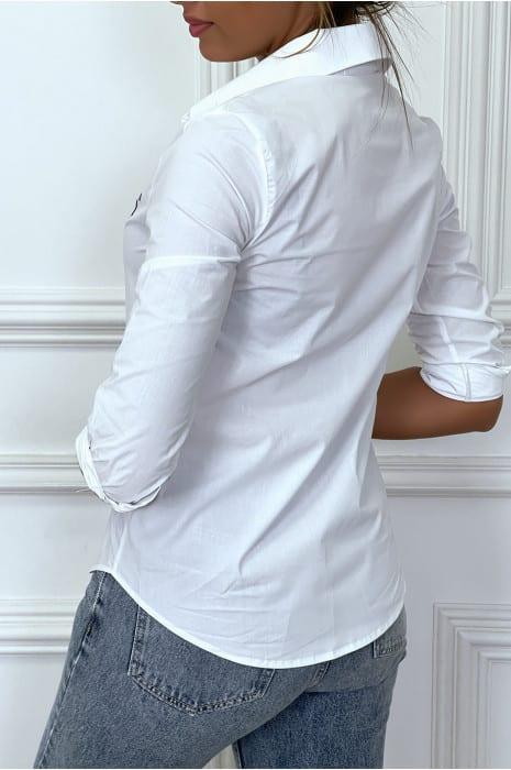 chemise-blanche-a-manches-longues-avec-imprime
