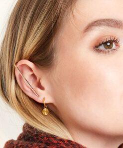 boucle d'oreille crochet en strass