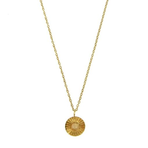 collier en acier avec pendentif rond