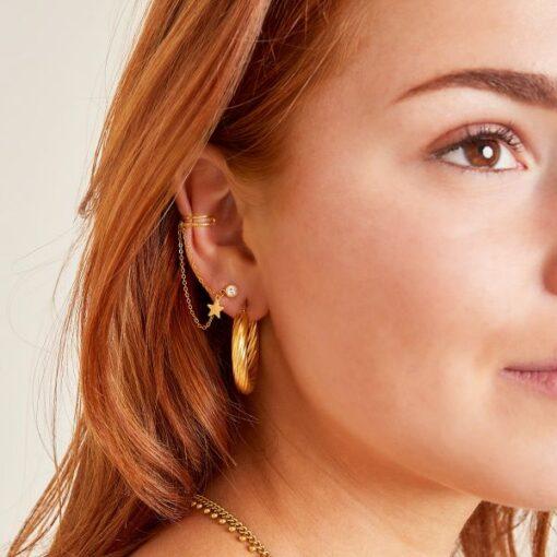 bijou d'oreille étoile en acier inoxydable