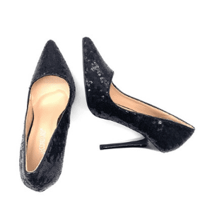 chaussures à talons avec des paillettes