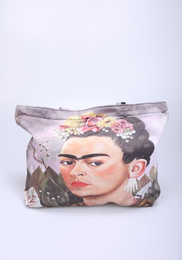 sac avec fermeture éclair imprimé artistique