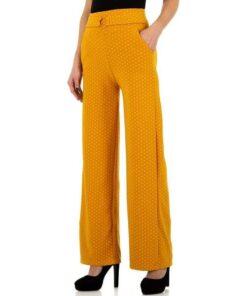Pantalon Femme Tendance Petits Motifs Jaune