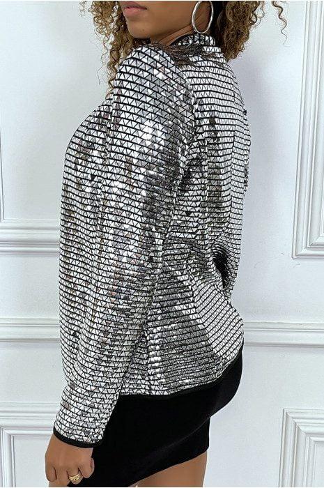 veste-blazer-argente-brillante