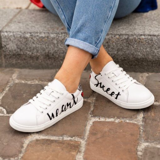 sneaker à lacets avec paillettes simone strass-et-paillettes
