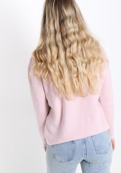 chandail rose avec strass