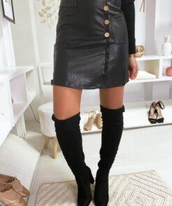 jupe-noir-croise-avec-poches-et-boutons-en-simili