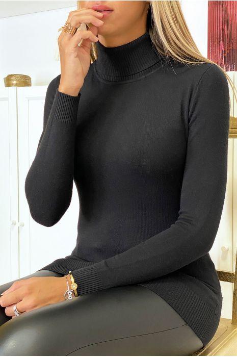 pull-col-roule-noir-en-maille-tricot-tres-extensible-et-doux