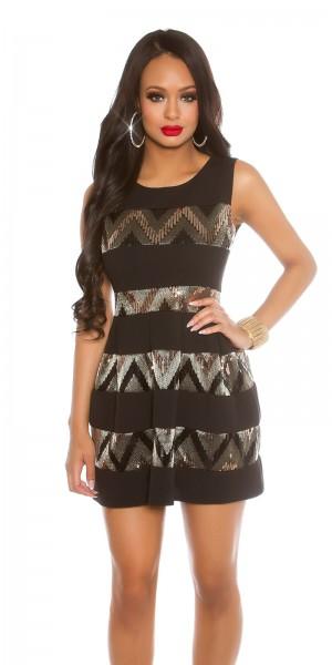 robe courte avec paillettes